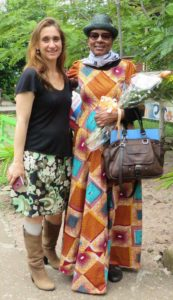 La Relatora Especial de la ONU Sra. Koumbou Boly Barry y la coordinadora de CLADE y presidenta de CME la Sra. Camilla Croso